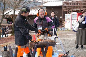 薪作り体験ブース